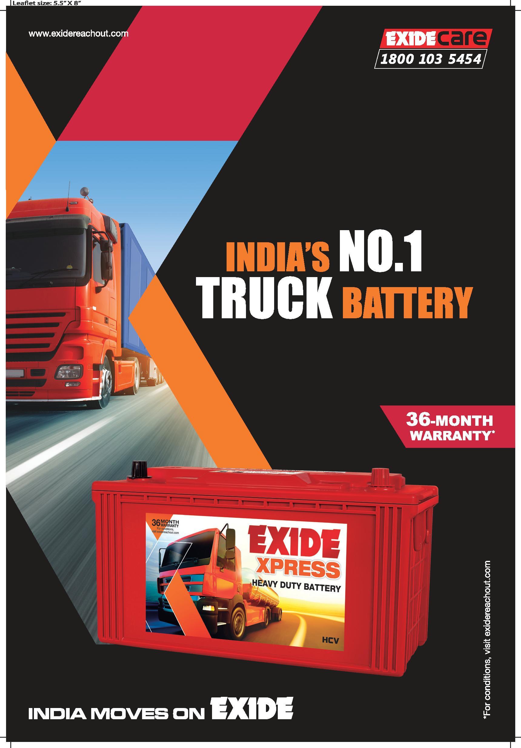 Exide Xpress Truck Battery
