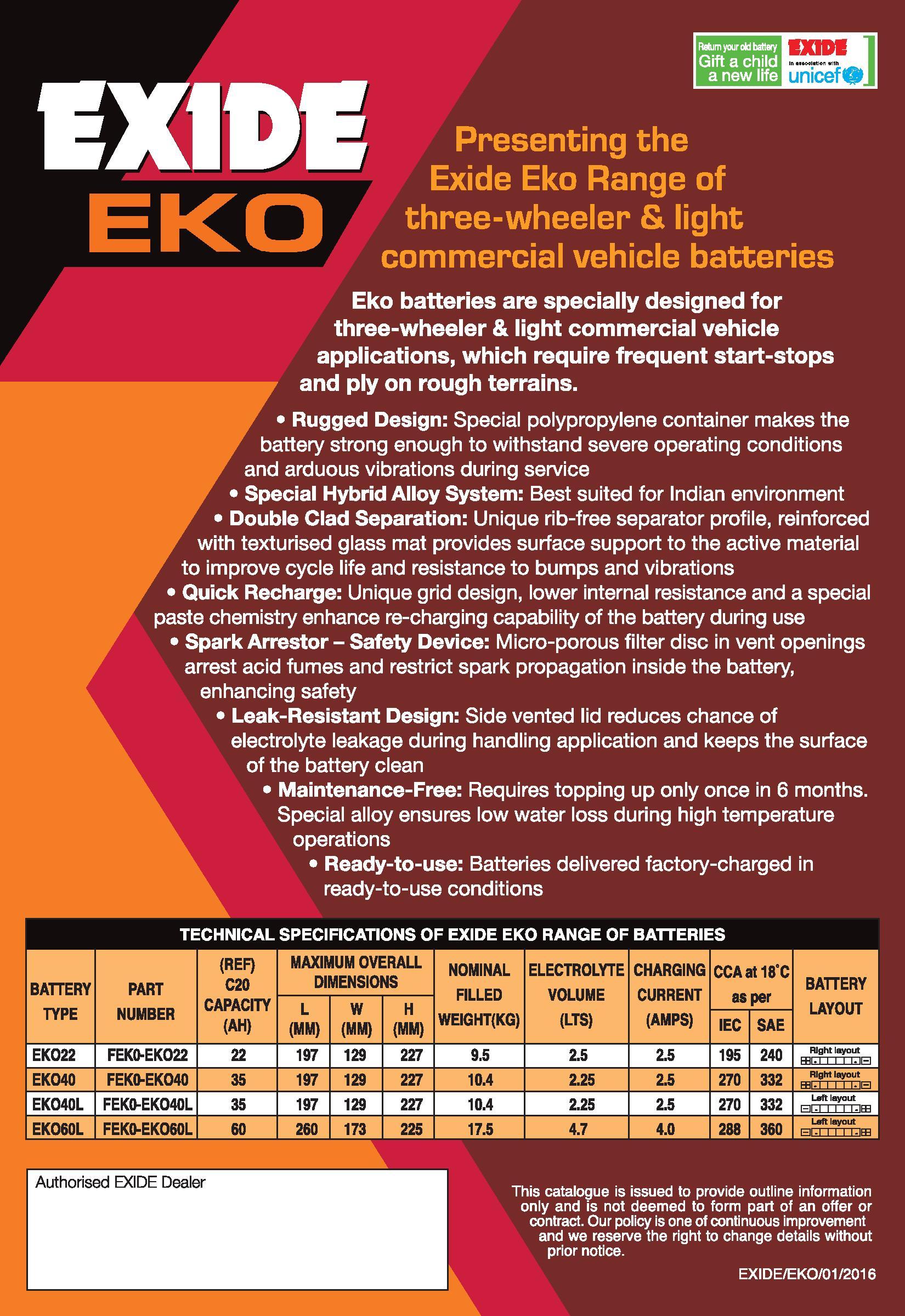 Buy Exide Xpress Heavy Duty  Battery
