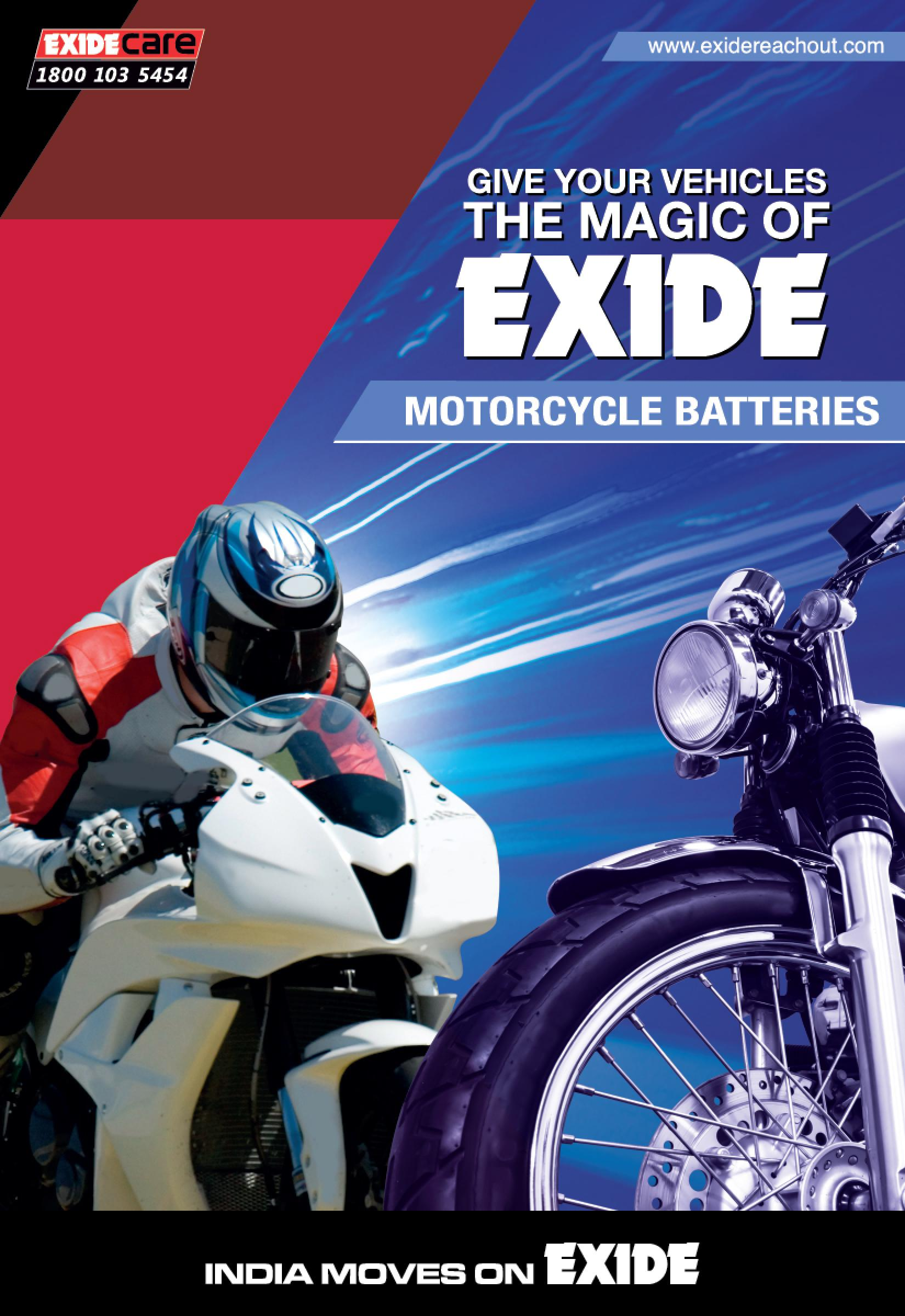 Exide Bikerz Motorcycle Battery