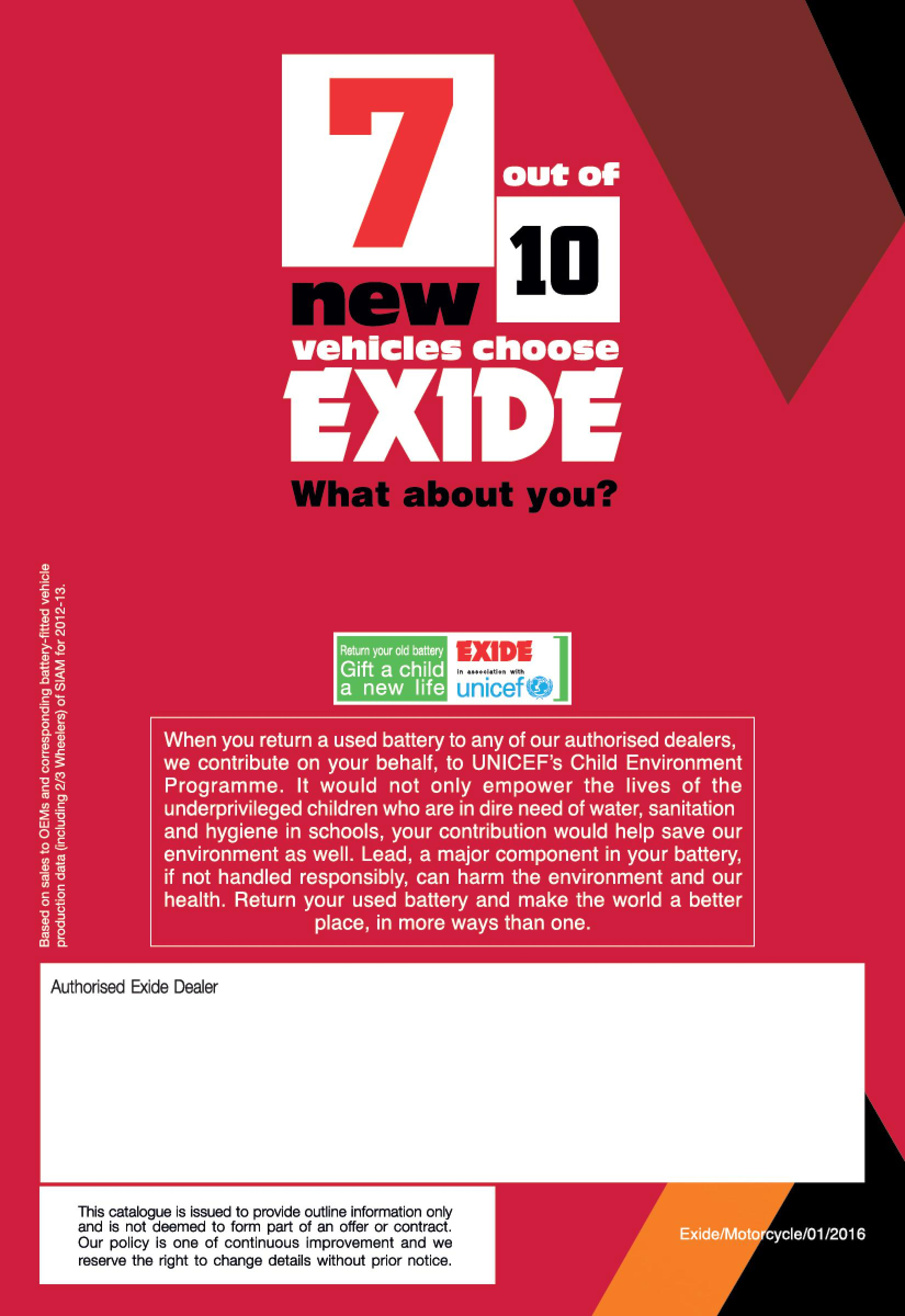 Exide Motorcycle Battery Specification