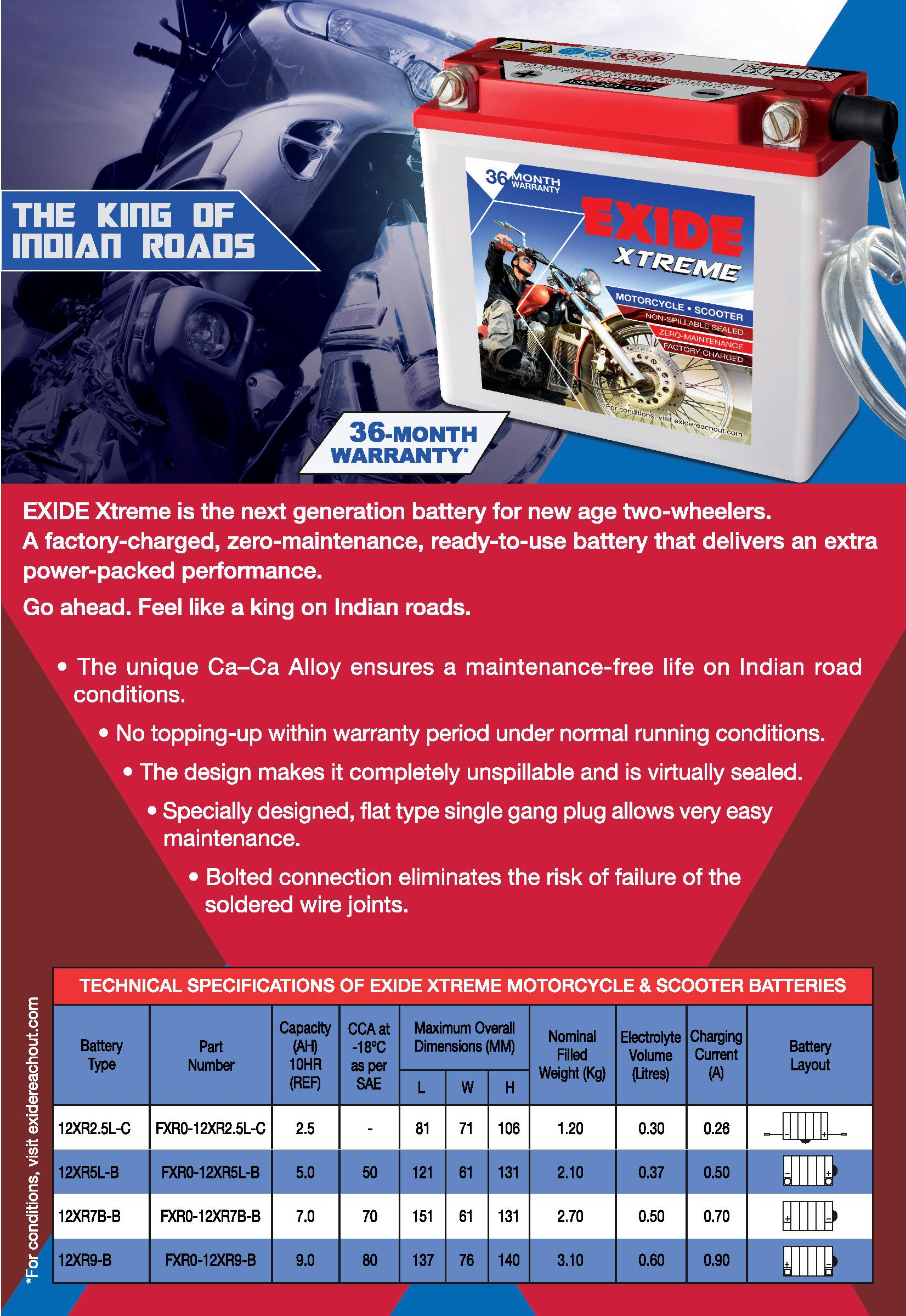 Buy Exide Extreme Motorcycle Battery