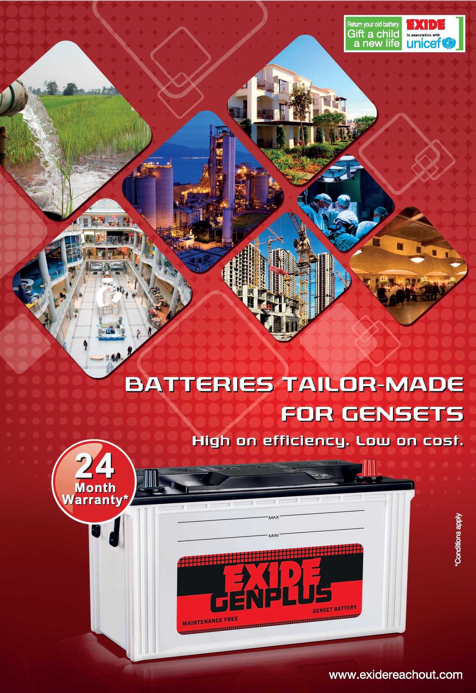Exide Genplus Generator Battery