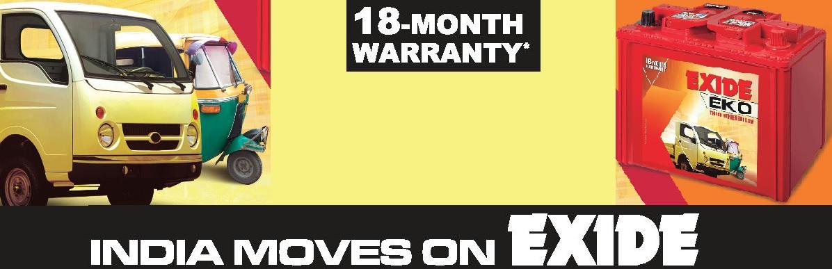 Buy Exide Three Wheeler Battery Online
