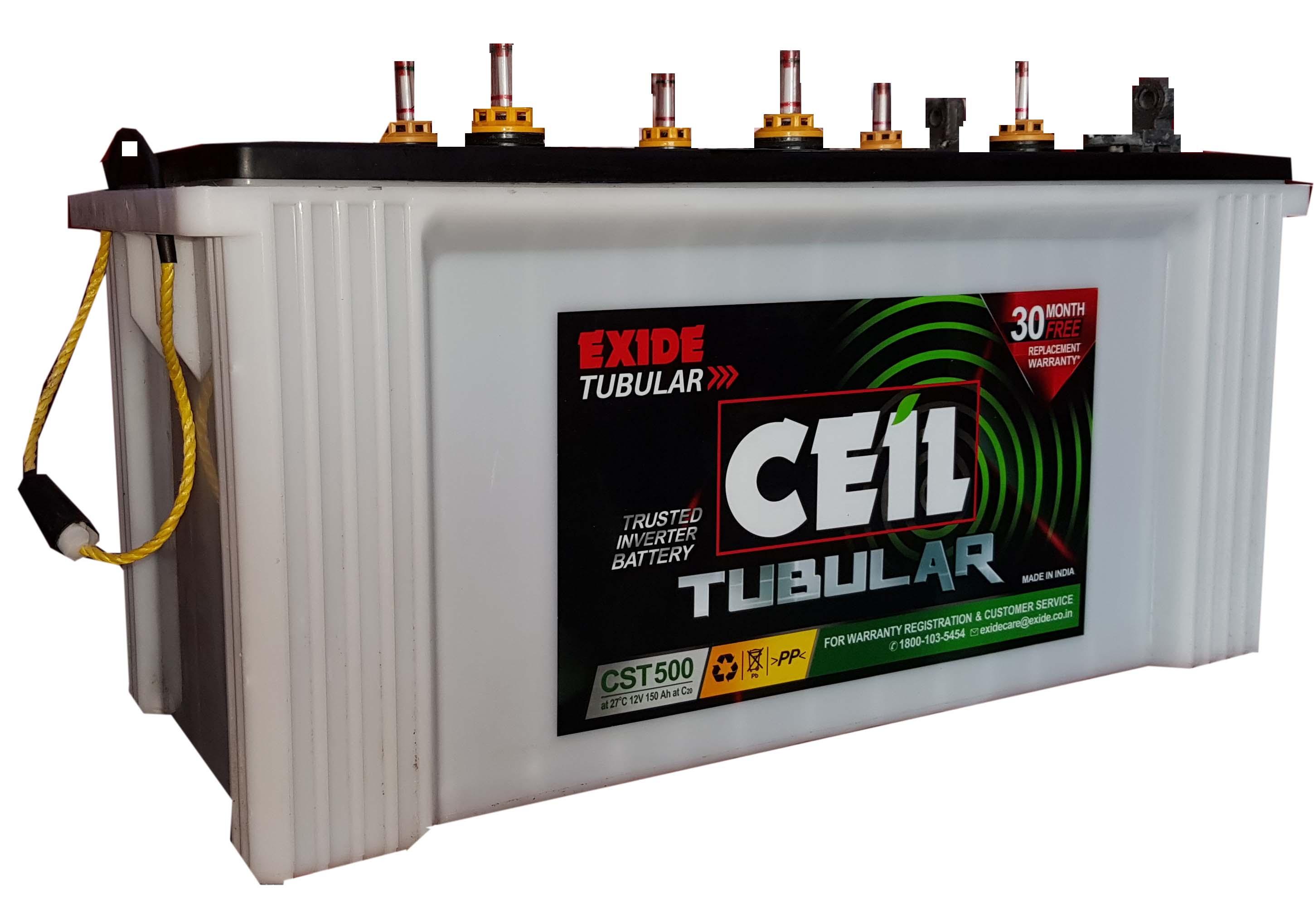 exide ceil small tubular battery cst500