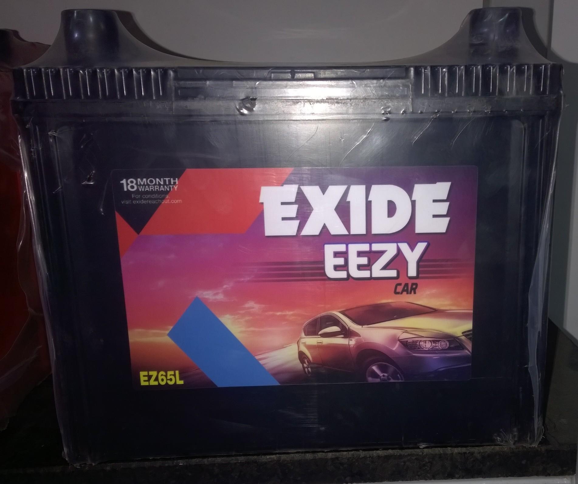 Exide Eezy car battery for pickup , indigo , indica ,  EZ65L