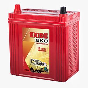 Exide eko auto battery eko 22