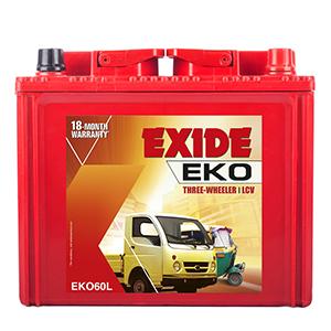 Exide eko three wheeler battery EKO 60L