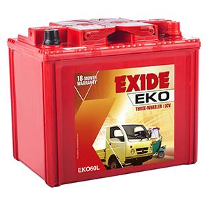 Exide eko auto rikshaw BATTERY eko60l