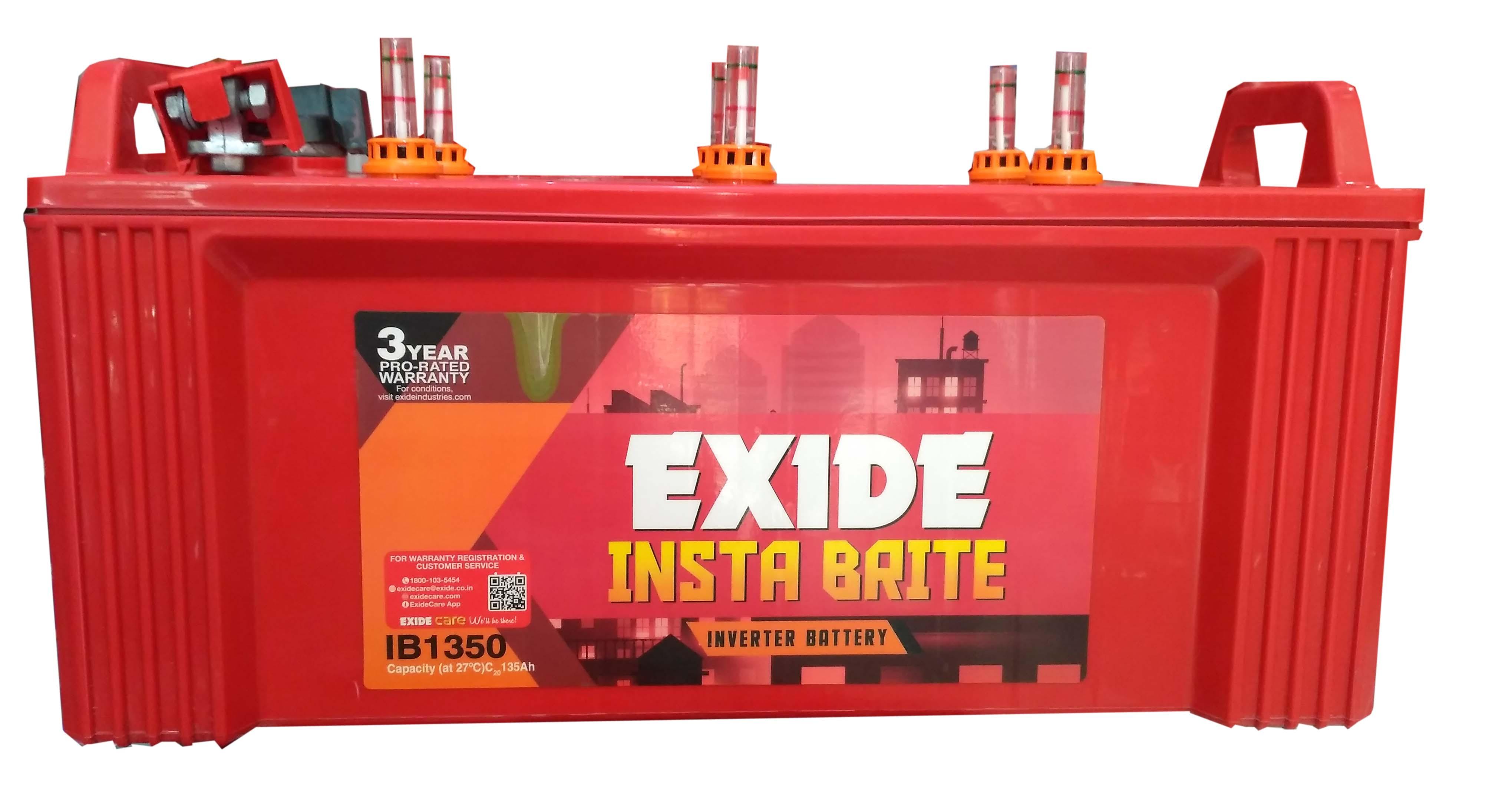 Exide Instabrite 1350 inverter batery 135 ah
