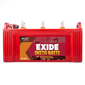 Exide Instabrite 1500 inverter batery 150 ah