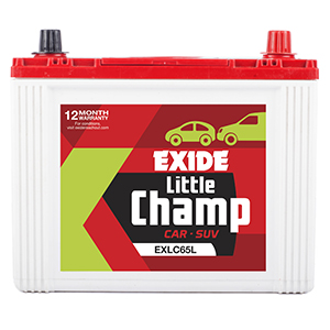 Exide litle champ lc65l battery 65 ah for indigio