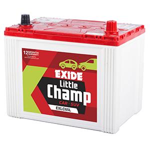 Exide litle champ car battery 65 ah