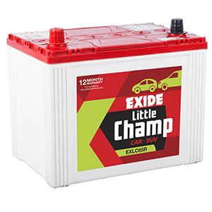 Exide car litle champ Battery EXLC65R