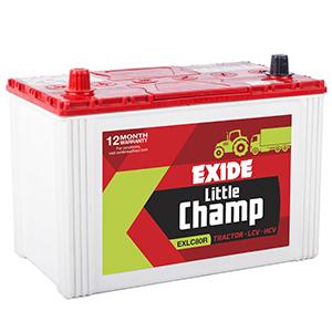 Exide litle champ 80 ah battery for swraj mazda exlc80
