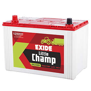 Exide messy tractor battery
