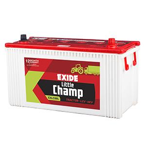 Exide litle champ tarctor battery for swraj 724 lc88