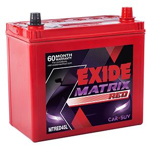 Exide matrix car Battery MTRED45L MT45L MX45L