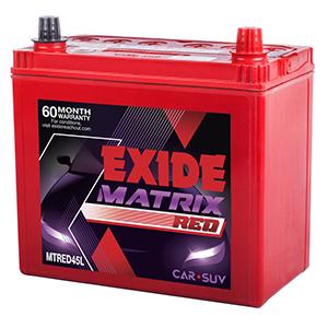 Exide matrix red honda city new model battery
