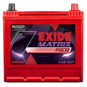 Exide matrix red hyundai i 20 battery