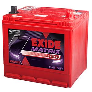 Exide matrix red verna fludic battery