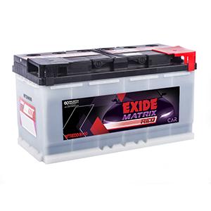 Exide matrix red din 100 battery