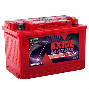 Exide matrix car Battery MTREDDIN74 MTDIN74