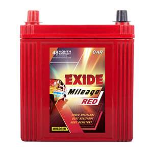 Exide mileag red 32 ah battery for alto