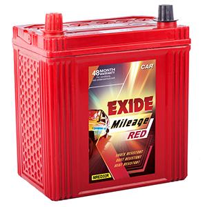 Exide mileage red 32r maruti 800 battery