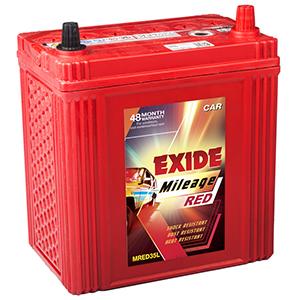 Exide mileage red alto car battery MR35L