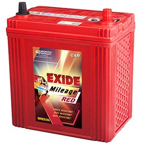 Exide mileage red 35 AH BATTERY FOR santro alto wagonr EM35L