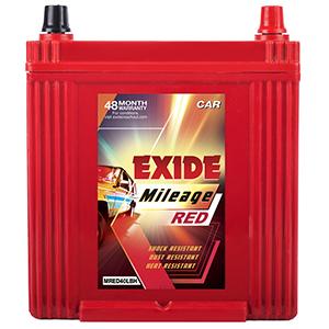 Exide mileag red i 10 battery mi40Lbh