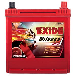 Exide mileage red 120 petrol battery MI45D21LBH