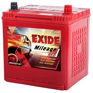 Exide mileag red hyundai i20 petrol battery EM45D21LBH