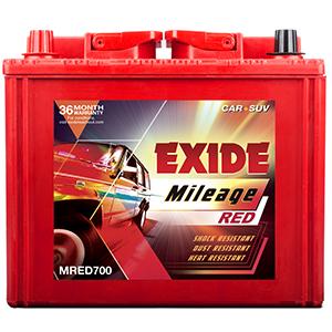 Exide mileage red MRED700 innova battery