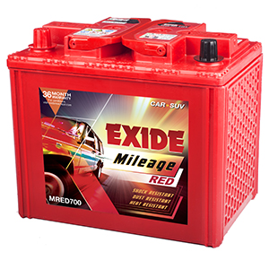 Exide mileage red 700 battery for indigo indica