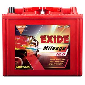 Exide mileage red MRED700l