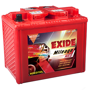 Exide automotive BUY mileage Battery mred700l mi700l
