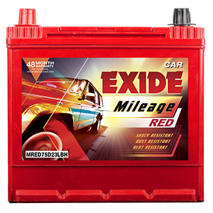 Exide mileag red HYUNDAI I 20 BATTERY MR75D23LBH
