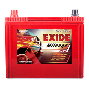 Exide mileage red sail uva battery MR80D26R