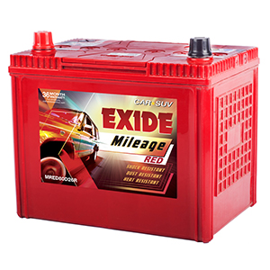 Exide mileage red chervolet sail battery MI80D26R