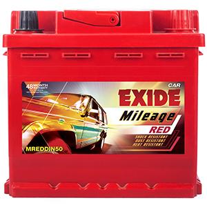 Exide mileag red BATTERY DIN50 50 ah battery