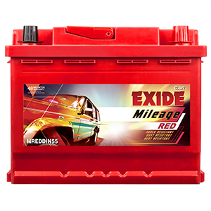 Exide mileage red din55 car battery MRDIN55