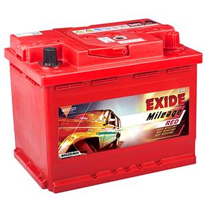 Exide mileage red din60 car battery for skoda fabia MREDDIN60