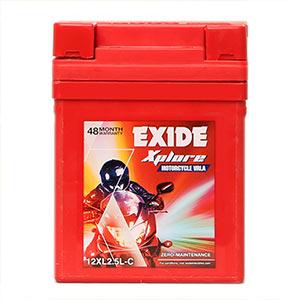 Buy Exide xplore splendor cd deluxe yamaha without self BATTERY XL2.5LC