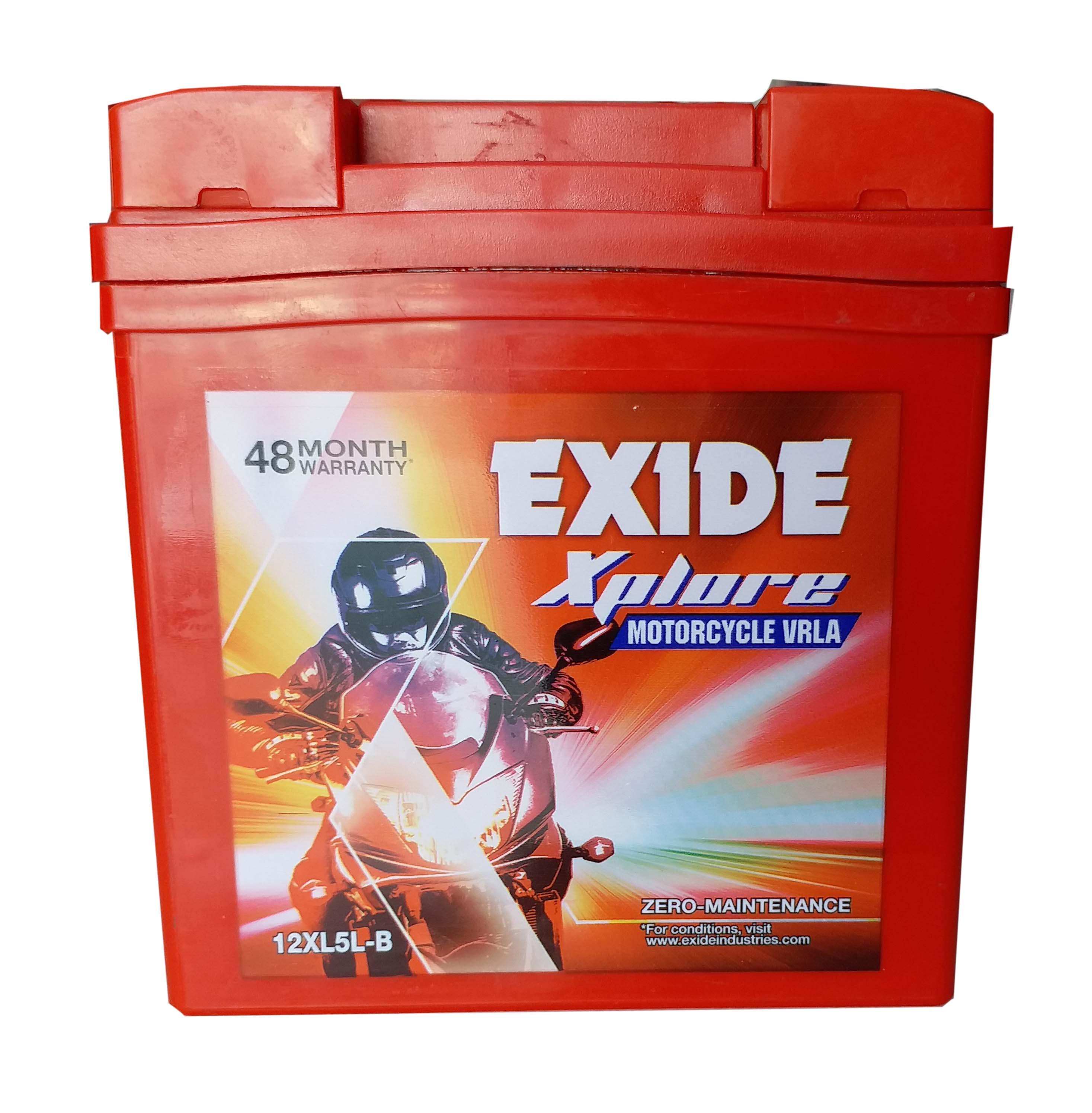 Exide buy xplore sealed battery for activa old model BATTERY 12xl5lb