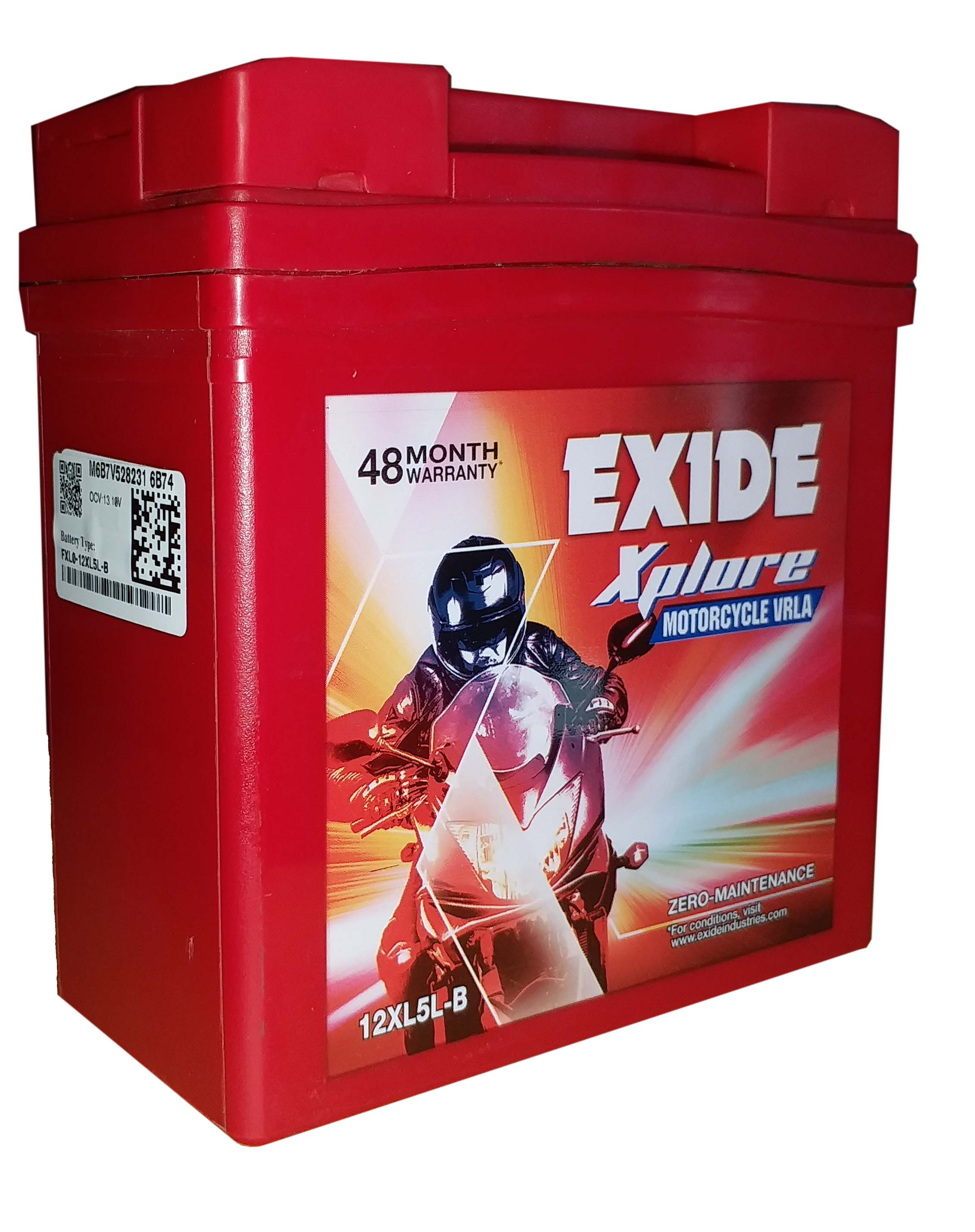Exide xplore sealed battery for acess 125 discover 100 old model BATTERY 12xl5lb