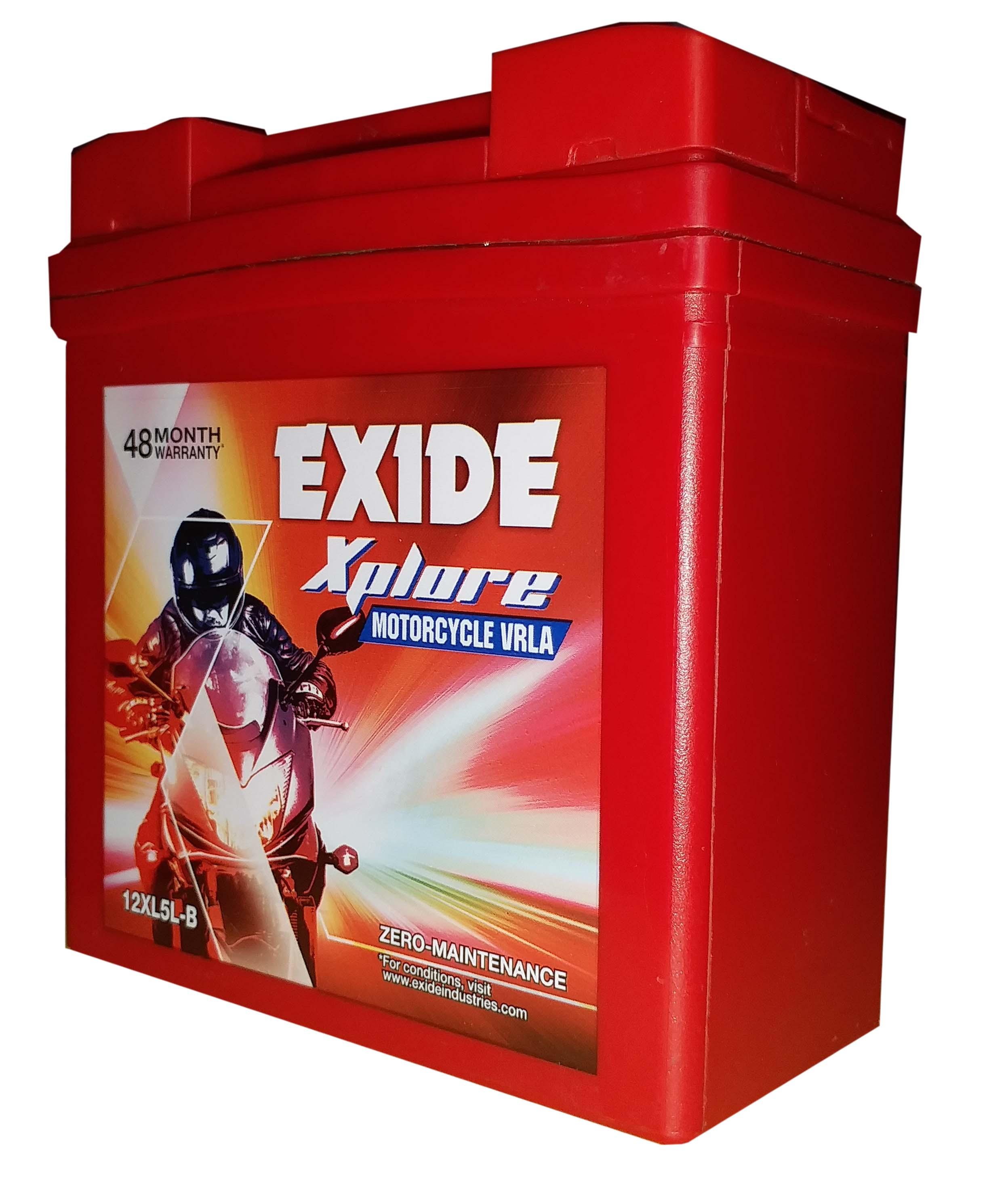 BUY Exide xplore sealed battery for activa old model BATTERY 12xl5lb