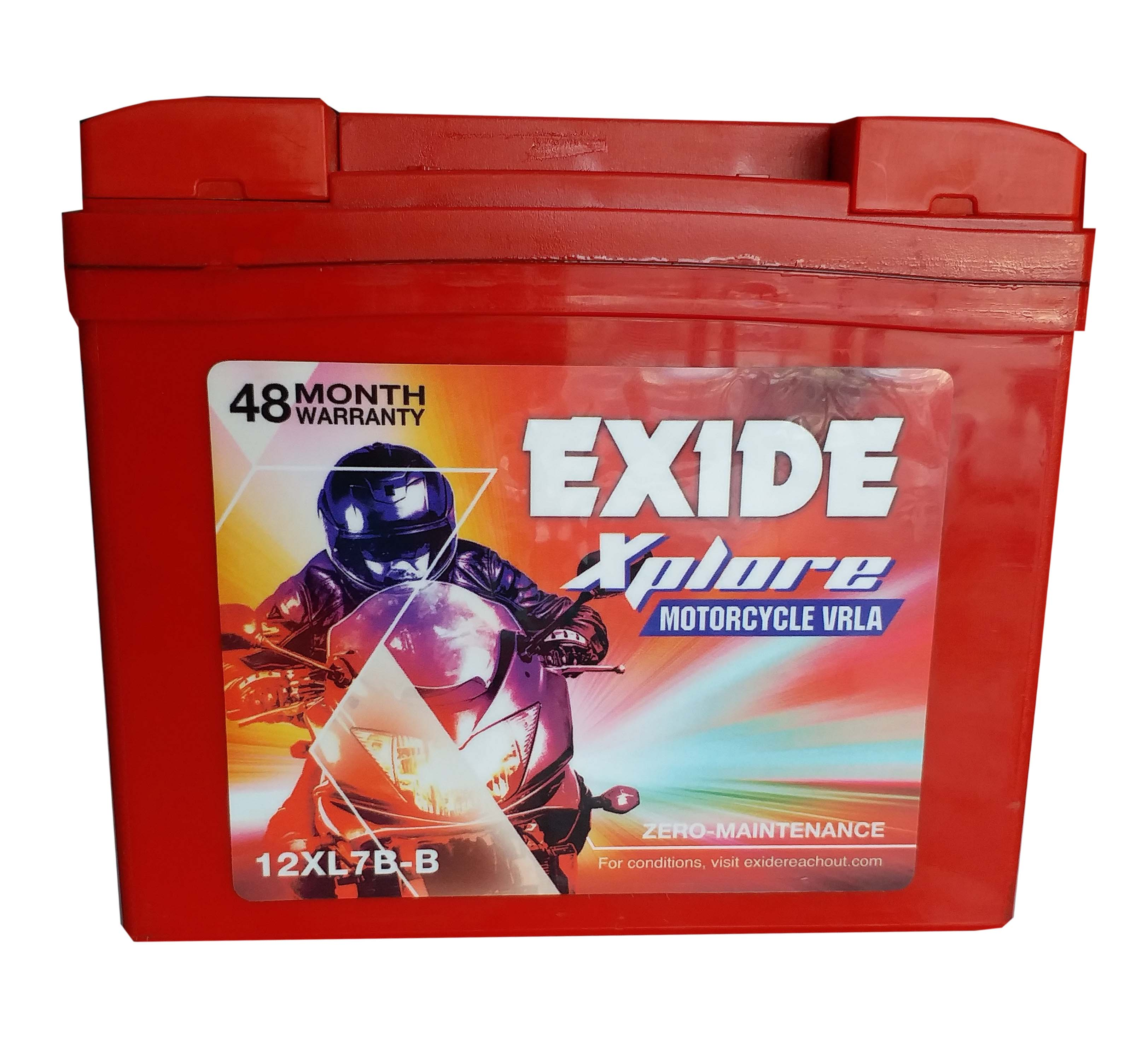 BUY Exide xplore mahindra duro , rodeo , discover 150 , pulsor 150 new model BATTERY 12xl7b-b