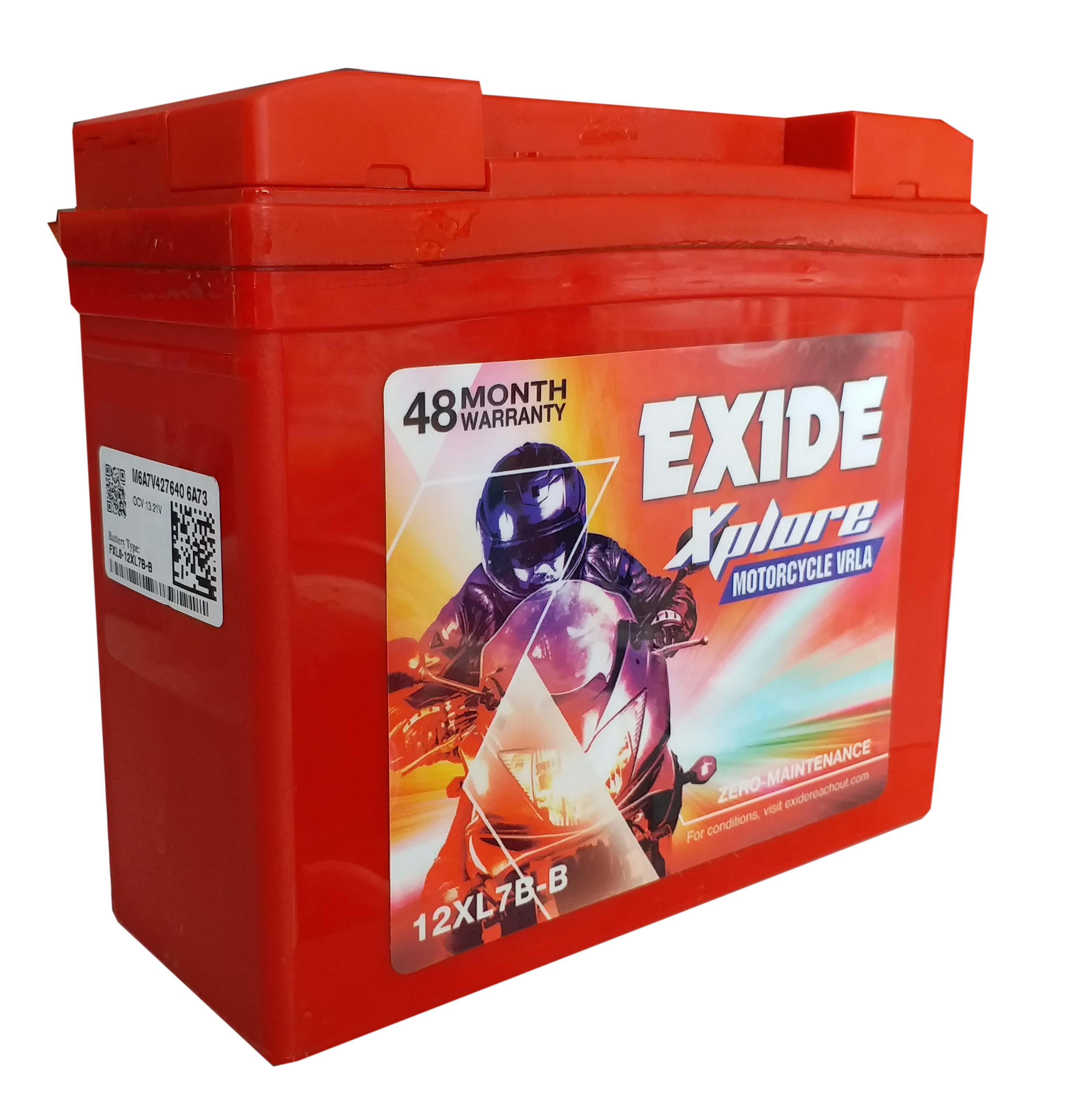 Exide xplore mahindra duro , rodeo , discover 150 , pulsor 150 new model BATTERY 12xl7b-b