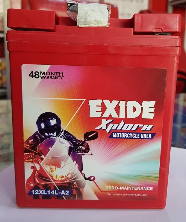 Exide xplore bullet battery xl 14la2